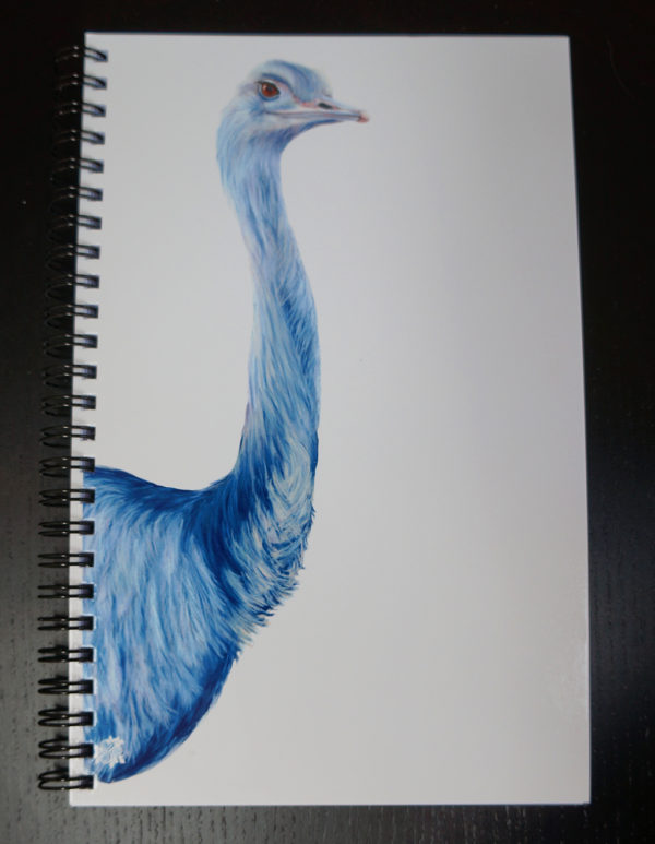 Blue Ostrich Sketchbook