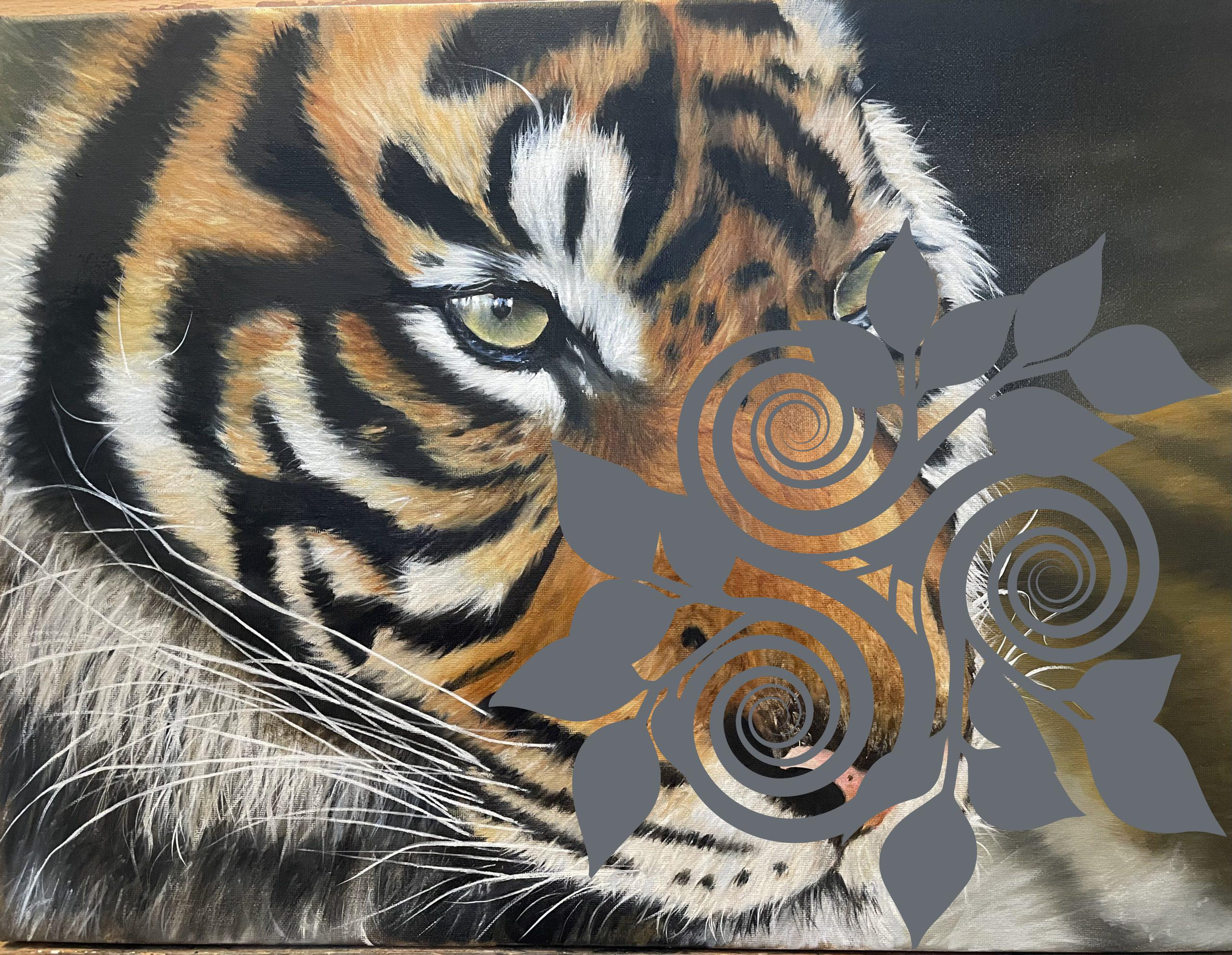 Tiger Oil Painting